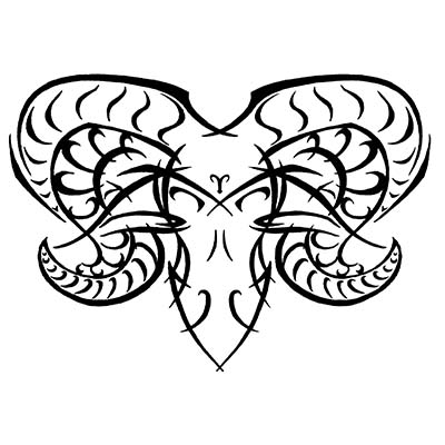 Amazing tribal aries Design Water Transfer Temporary Tattoo(fake Tattoo) Stickers NO.10940